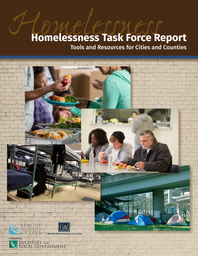 Cover of the Homelessness Task Force Report.